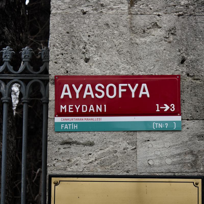 Ayasofya is the Turkish name.