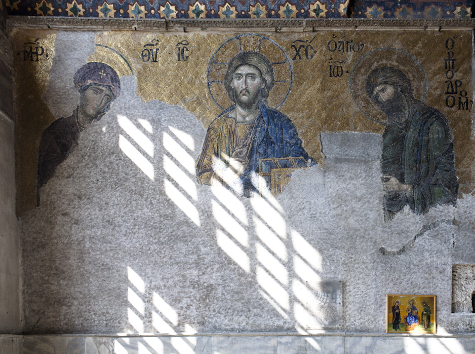 Ancient Byzantine mosaics, covered up for centuries, are now being restored.