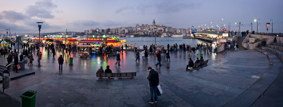 The Eminönü ferry docks! They're a huge transportation hub, with a million buses and ferries.