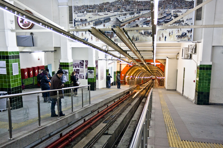 Tünel, an underground funicular! The second-oldest underground rail line in the world.