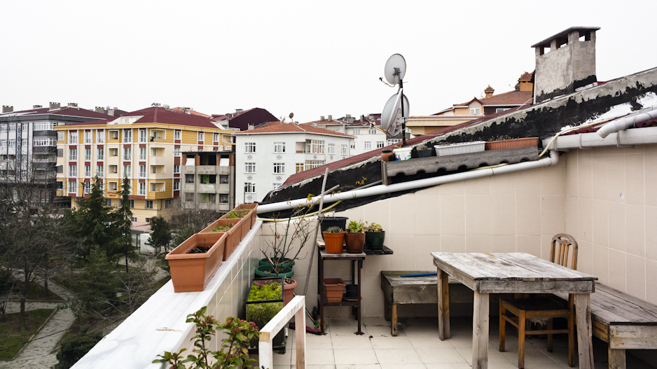 Roof terrace at the home where I stayed.